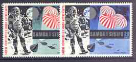 Samoa 1969 First Man on the Moon set of 2 unmounted mint, SG 330-31