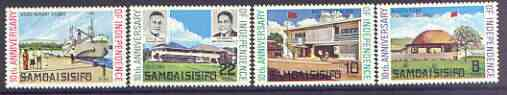 Samoa 1972 Tenth Anniversary of Independence set of 4 unmounted mint, SG 378-81