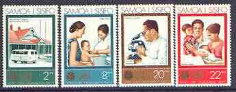 Samoa 1973 25th Anniversary of World Health Organisation set of 4 unmounted mint, SG 413-16
