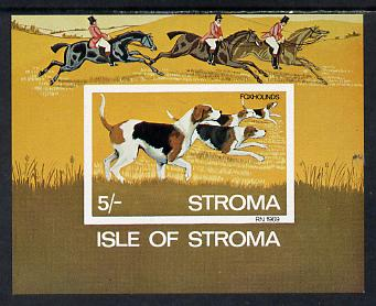 Stroma 1969 Dogs imperf m/sheet (5s value showing Foxhounds) unmounted mint