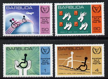 Barbuda 1981 International Year of the Disabled set of 4 unmounted mint, SG 576-9