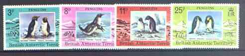 British Antarctic Territory 1979 Penguins set of 4 unmounted mint, SG 89-92