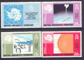 British Antarctic Territory 1981 20th Anniversary of Antarctic Treaty set of 4 unmounted mint, SG 99-102