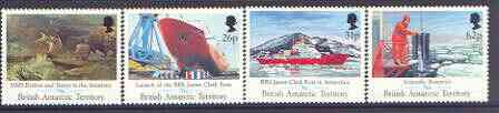 British Antarctic Territory 1991 Maiden Voyage of James Clark Ross (Research Ship) set of 4 unmounted mint, SG 200-03