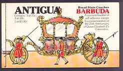 Booklet - Barbuda 1978 Coronation 25th Anniversary $7.25 booklet containing self-adhesive panes, pristine, SG SB2