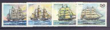 Samoa 1979 Sailing Ships (1st series) set of 4 unmounted mint, SG 540-43