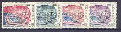 Monaco 1964-67 Aquatic Stadium set of 4 precancels unmounted mint, SG 803-805*