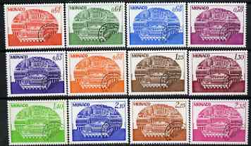 Monaco 1978-79 Congress Centre set of 12 precancels unmounted mint, SG 1348-59