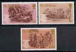 St Helena 1980 Empress Eugenie's Visit set of 3 unmounted mint, SG 358-60