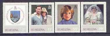 St Helena 1982 Princess Di's 21st Birthday set of 4 unmounted mint, SG 397-400