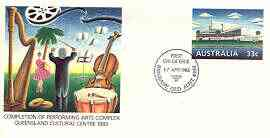 Australia 1985 Performing Arts Complex 33c postal stationery envelope with first day cancellation