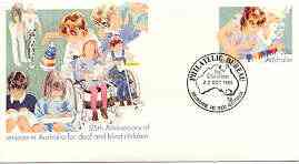 Australia 1985 Deaf & Blind Children 33c postal stationery envelope with first day cancellation