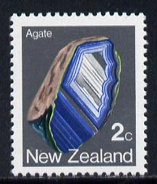 New Zealand 1982-89 Agate 2c perf 12.5 from def set unmounted mint, SG 1278a*