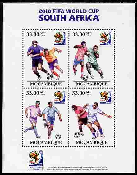 Mozambique 2010 Football World Cup perf sheetlet containing 4 values unmounted mint