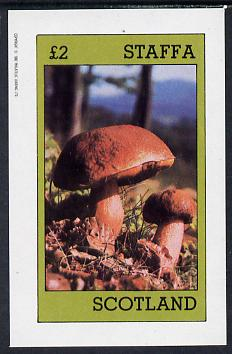 Staffa 1982 Fungi imperf deluxe sheet (�2 value) unmounted mint
