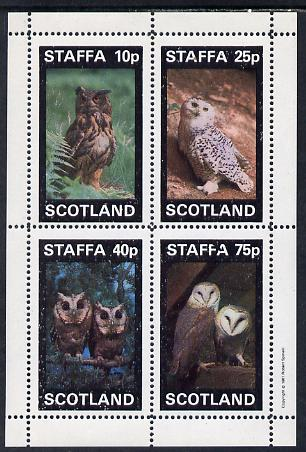 Staffa 1981 Owls #01 perf set of 4 values (10p to 75p) unmounted mint