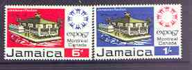 Jamaica 1967 World Fair, Montreal (Expo 67) set of 2 unmounted mint, SG 260-62*