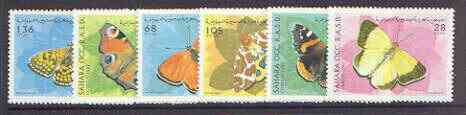Sahara Republic 1997 Butterflies complete perf set of 6 unmounted mint