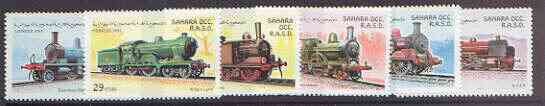 Sahara Republic 1997 Locomotives complete perf set of 6 values unmounted mint