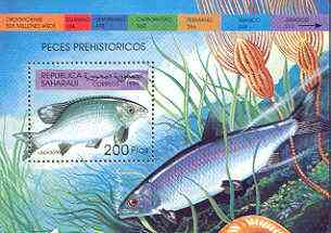 Sahara Republic 1999 Fish perf m/sheet unmounted mint