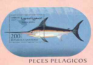 Sahara Republic 1997 Fish perf m/sheet unmounted mint