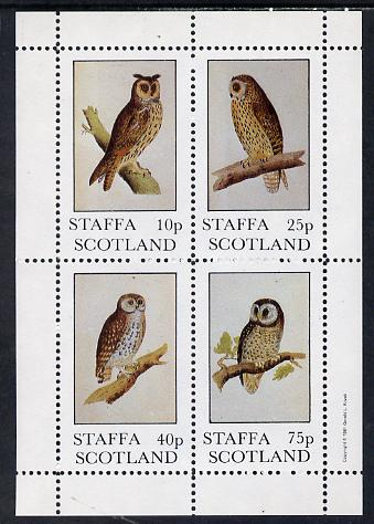 Staffa 1981 Owls #02 perf set of 4 values (10p to 75p) unmounted mint