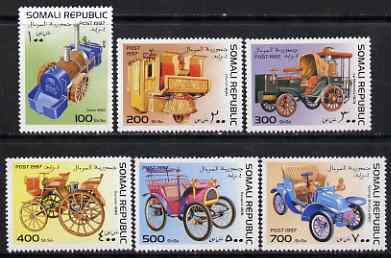 Somalia 1997 Old Cars complete perf set of 6 values unmounted mint