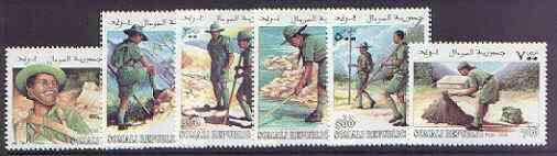 Somalia 1999 Scouts complete perf set of 6 values unmounted mint, stamps on scouts