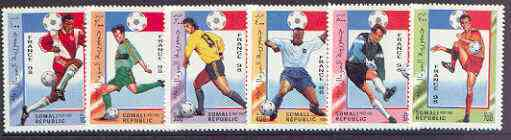 Somalia 1997 Football World Cup (France 98) complete perf set of 6 values unmounted mint