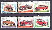Somalia 1999 Fire Engines complete perf set of 6 unmounted mint