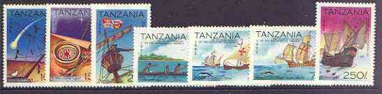 Tanzania 1992 500th Anniversary of Discovery of America by Columbus perf set of 7 unmounted mint, SG 1345-51