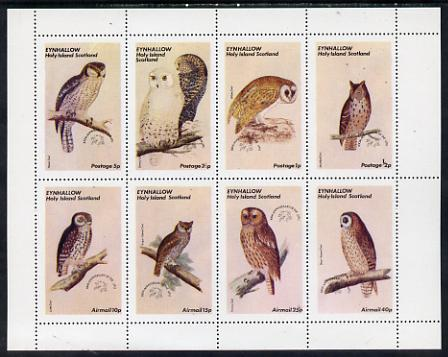 Eynhallow 1974 Owls (Universal Postal Union Centenary) perf set of 8 values unmounted mint (0.5p to 40p)