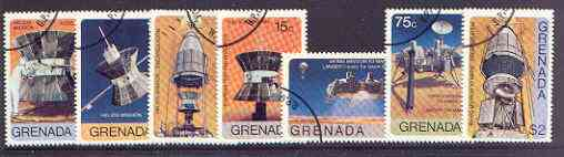 Grenada 1976 Viking & Helios Space Missions set of 7 fine cto used, SG 825-31*