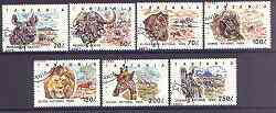 Tanzania 1993 National Parks (Animals) set of 7 fine cds used, SG 1689-95, Mi 1607-13*