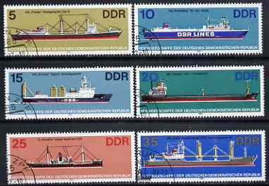 Germany - East 1982 Ocean Going Ships set of 6 very fine used, SG E2417-22, stamps on ships
