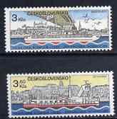 Czechoslovakia 1982 Danube Commission set of 2 unmounted mint, SG 2639-40