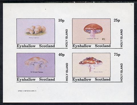 Eynhallow 1982 Fungi (Stump Puffball etc) imperf set of 4 values (10p to 75p) unmounted mint