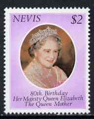 Nevis 1980 Queen Mother's 80th Birthday $2 unmounted mint, SG 50