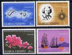 Samoa 1968 Centenary of Bougainville's Visit set of 4 unmounted mint, SG 306-309