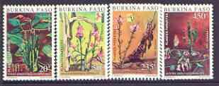 Burkina Faso 1989 Parasitic Plants set of 4 unmounted mint, SG 974-77