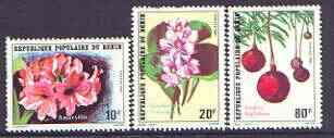 Benin 1981 Flowers set of 3 unmounted mint, SG 830-32
