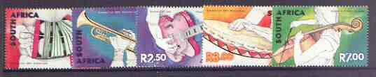 South Africa 2001 Music in South Africa set of 5 unmounted mint, SG1345-49*