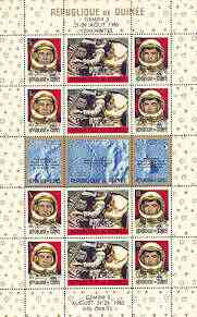 Guinea - Conakry 1965 Gemini 120 Orbits sheetlet of 15 unmounted mint, Mi BL 11A