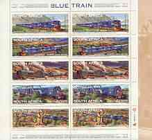 Booklet - South Africa 1998 Blue Train Services 13r booklet complete and pristine, SG SB54