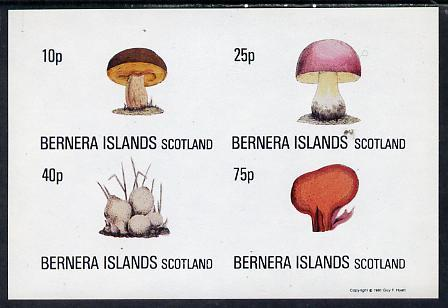Bernera 1981 Fungi imperf set of 4 values complete (10p to 75p) unmounted mint
