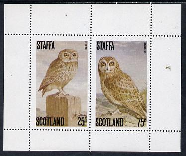 Staffa 1979 Owls perf set of 2 values (25p & 75p) unmounted mint