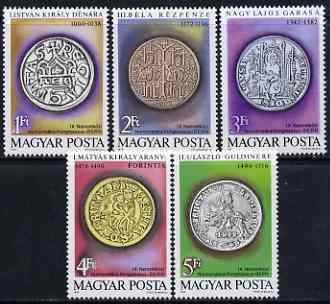Hungary 1979 International Nusmismatic Congress set of 5 unmounted mint, SG 3265-69