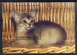 Bashkortostan 2001 Domestic Cats perf m/sheet unmounted mint (Cat on Wicker Chair)