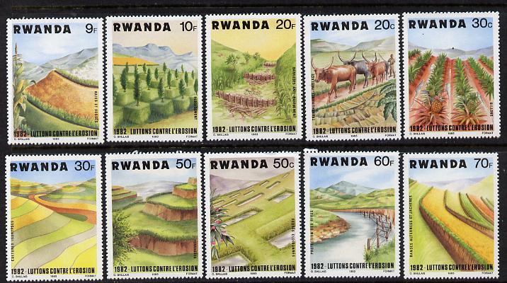 Rwanda 1983 Soil Erosion set of 10 unmounted mint, SG 1151-60