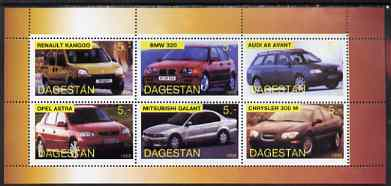 Dagestan Republic 1998 Modern Cars perf sheetlet containing set of 6 values unmounted mint